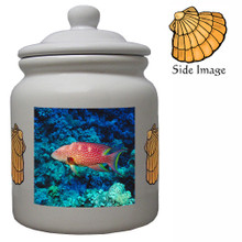 Grouper Ceramic Color Cookie Jar