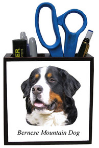 Bernese Mountain Dog Wooden Pencil Holder