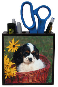 Cavalier King Charles Wooden Pencil Holder