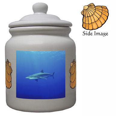 Shark Ceramic Color Cookie Jar