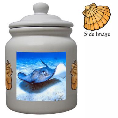 Stingray Ceramic Color Cookie Jar