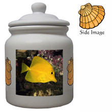 Yellow Tang Ceramic Color Cookie Jar