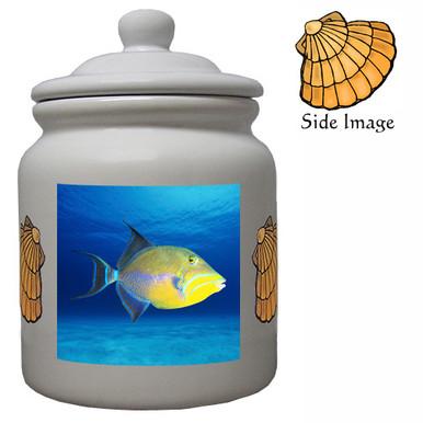 Triggerfish Ceramic Color Cookie Jar