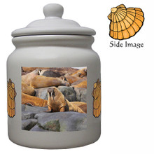 Walrus Ceramic Color Cookie Jar