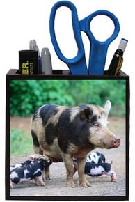 Pig Wooden Pencil Holder