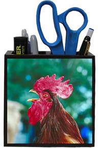 Rooster Wooden Pencil Holder