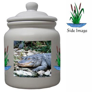 Alligator Ceramic Color Cookie Jar