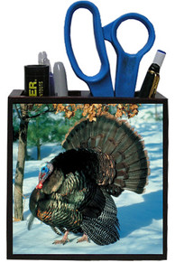 Turkey Wooden Pencil Holder