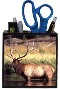 Elk Wooden Pencil Holder
