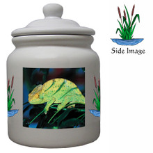 Chameleon Ceramic Color Cookie Jar