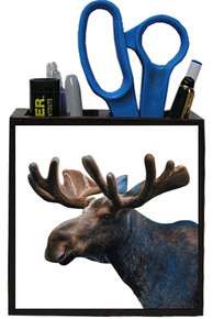 Moose Wooden Pencil Holder