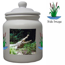 Crocodile Ceramic Color Cookie Jar