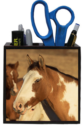 Horse Wooden Pencil Holder