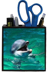Dolphin Wooden Pencil Holder