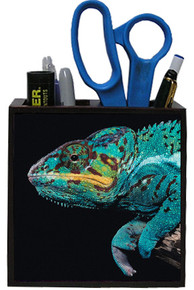 Chameleon Wooden Pencil Holder