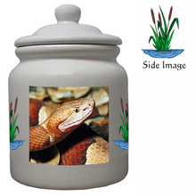 Copperhead Snake Ceramic Color Cookie Jar