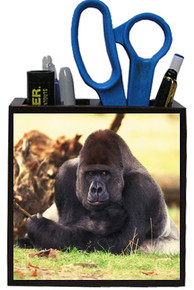 Gorilla Wooden Pencil Holder