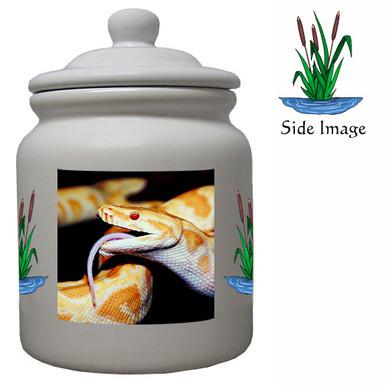 Python Snake Ceramic Color Cookie Jar