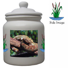 Viper Snake Ceramic Color Cookie Jar