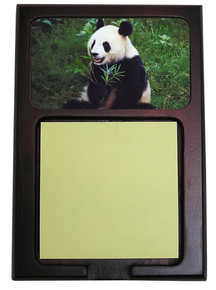 Panda Bear Wooden Sticky Note Holder