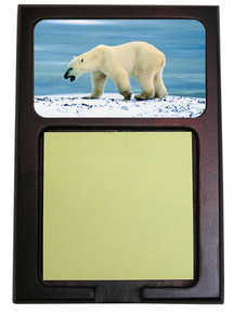 Polar Bear Wooden Sticky Note Holder