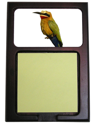 Bee Eater Wooden Sticky Note Holder