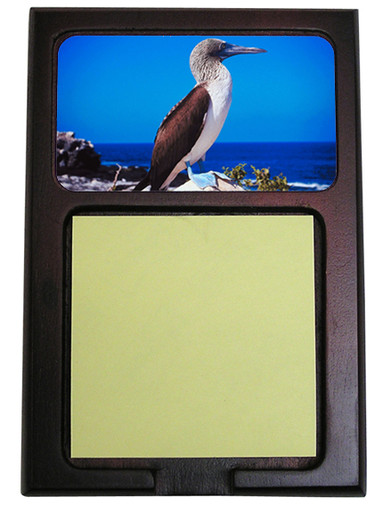 Blue Footed Booby Wooden Sticky Note Holder