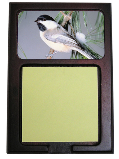 Chickadee Wooden Sticky Note Holder