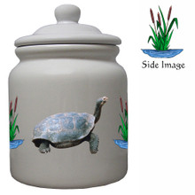 Turtle Ceramic Color Cookie Jar
