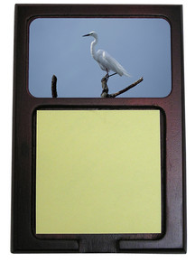 Egret Wooden Sticky Note Holder