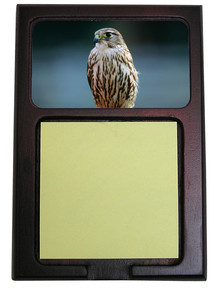 Falcon Wooden Sticky Note Holder
