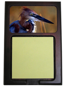 Goliath Heron Wooden Sticky Note Holder