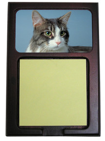 Cat Wood Sticky Note Holder