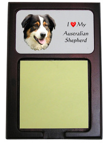 Australian Shepherd Wooden Sticky Note Holder