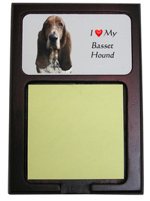Basset Hound Wooden Sticky Note Holder