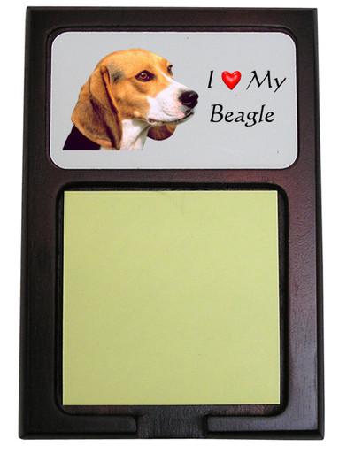 Beagle Wooden Sticky Note Holder