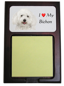 Bichon Wooden Sticky Note Holder