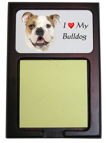 Bulldog Wooden Sticky Note Holder