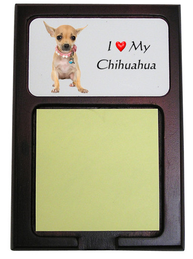 Chihuahua Wooden Sticky Note Holder
