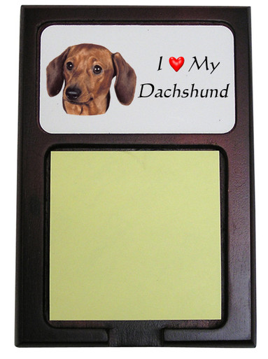 Dachshund Wooden Sticky Note Holder