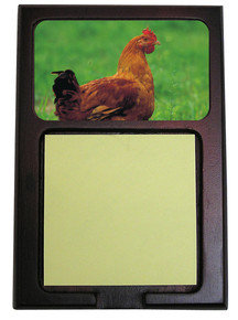 Chicken Wooden Sticky Note Holder