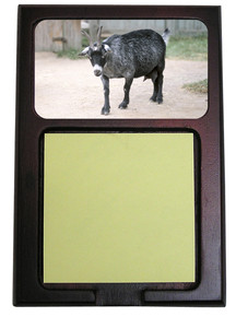 Goat Wooden Sticky Note Holder
