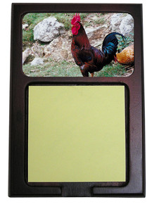 Rooster Wooden Sticky Note Holder