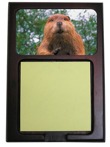 Beaver Wooden Sticky Note Holder
