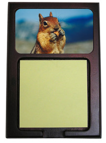 Chipmunk Wooden Sticky Note Holder