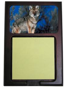 Coyote Wooden Sticky Note Holder