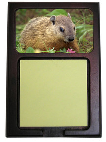 Groundhog Wooden Sticky Note Holder