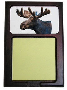 Moose Wooden Sticky Note Holder