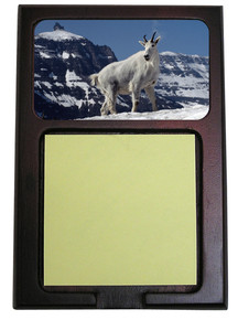 Mountain Goat Wooden Sticky Note Holder