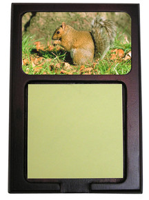 Squirrel Wooden Sticky Note Holder